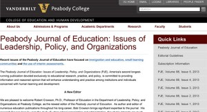 Peabody Journal of Education | Faculty | Peabody College of